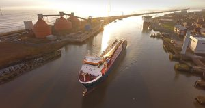 One of the World's longest turnbine blades arrives in Blyth