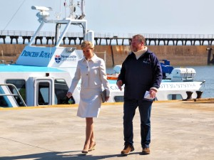 HRH The Countess of Wessex visits the Port of Blyth & Blyth Tall Ship