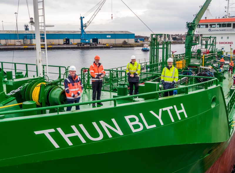 Thun Blyth welcomed to home port